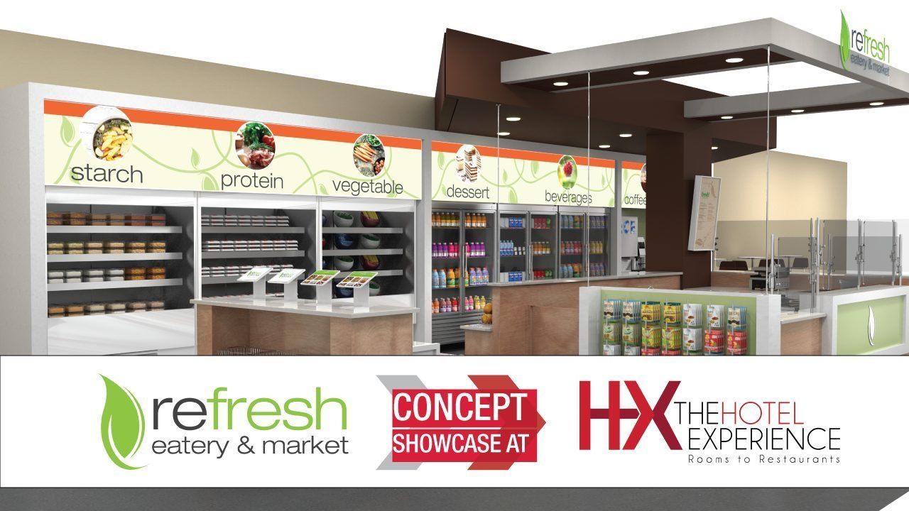 Refresh eatery and market showcase at HX Hotel Experience 2016